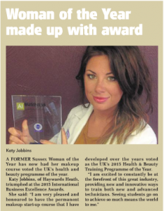 Katy-Jobbins-Featured-in-Leader-News-Paper-for-International-Business-Excellence-Award