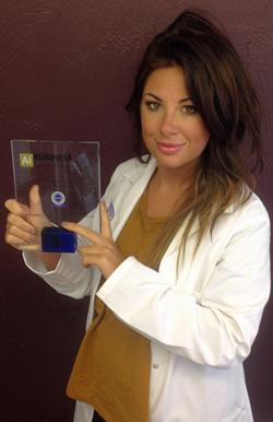 Katy Jobbins Wins Business Excellence Award 2015_w250