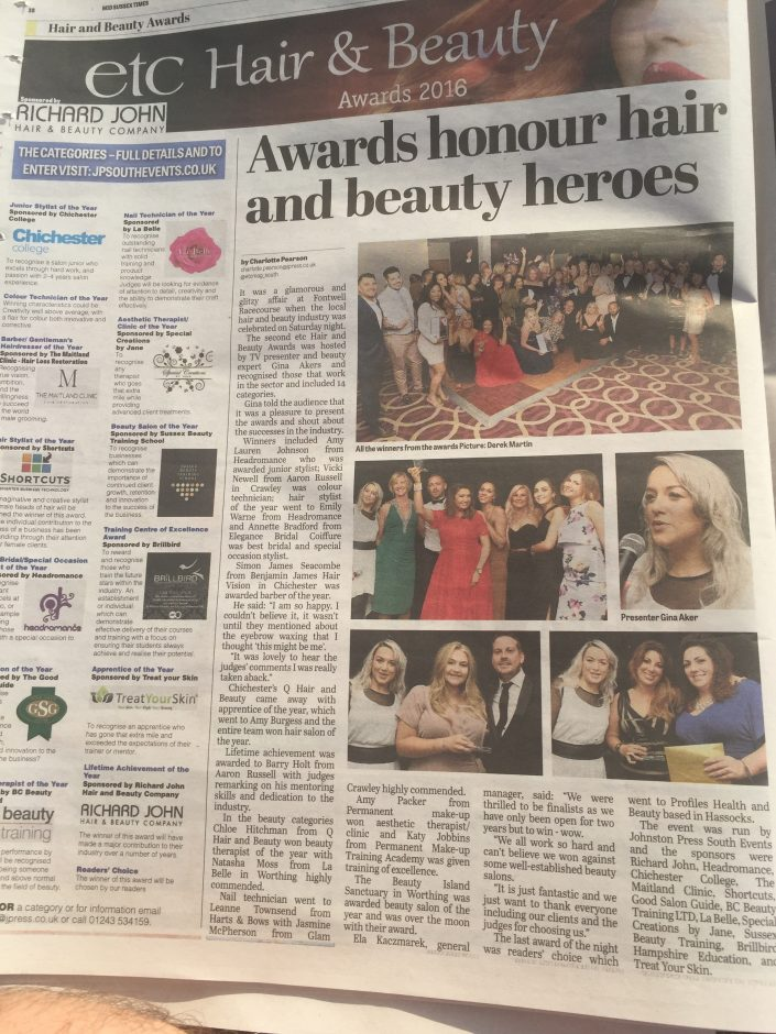 Katy Jobbins Award Win in the local Newspaper